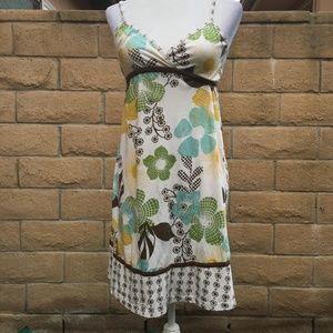 Cream Floral Dress